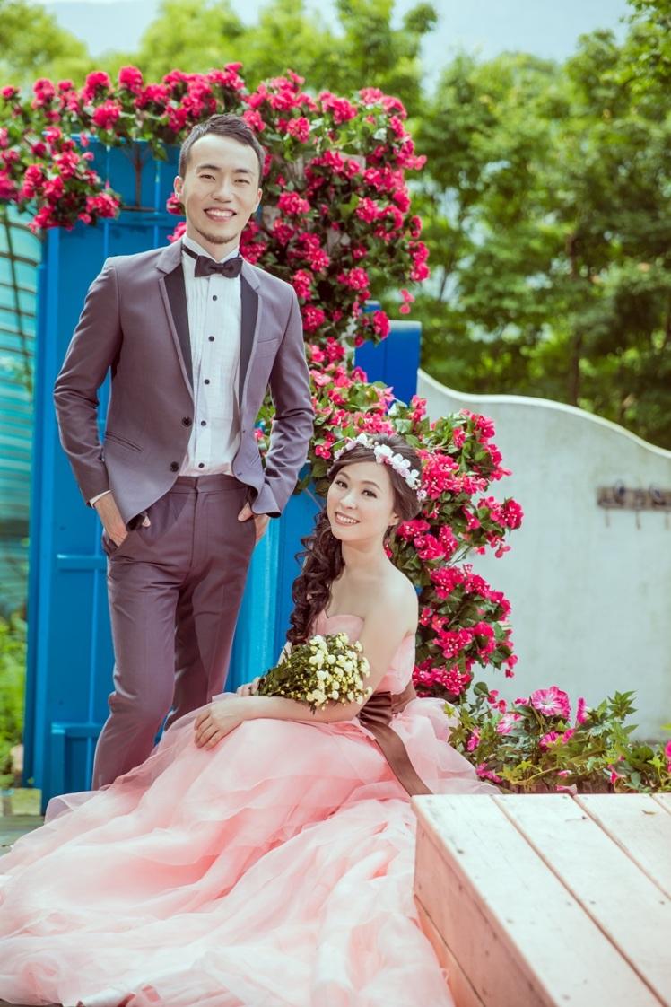 粉嫩韓風婚紗照-台北婚攝Jonny