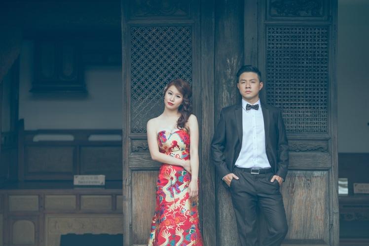 中式復古時尚婚紗照-台北婚攝JONNY